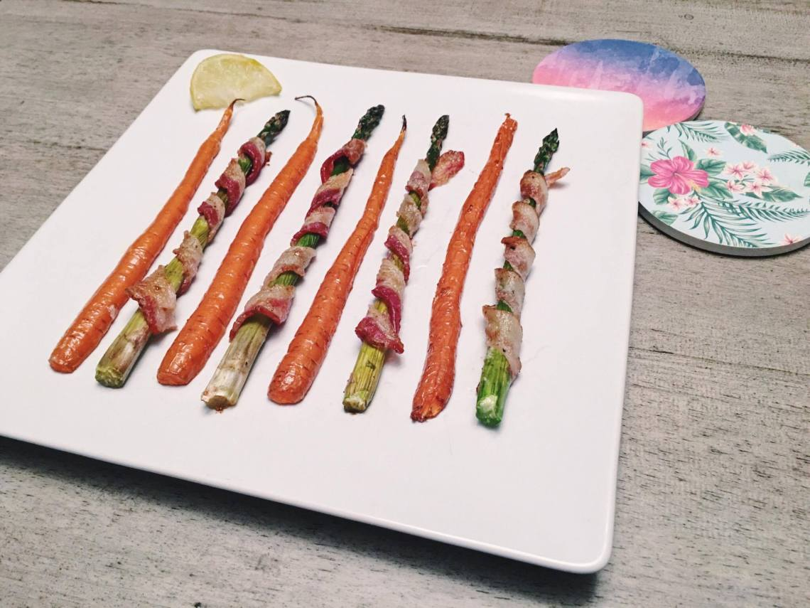 bacon wrapped asparagus roasted carrots recipe