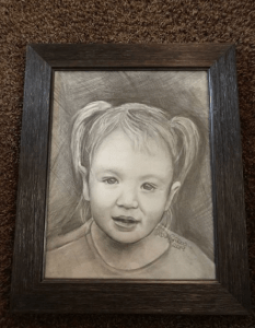 Christina received this drawing of granddaughter Arianna from a friend, named on Facebook as Debra Snow. (Image: Facebook)
