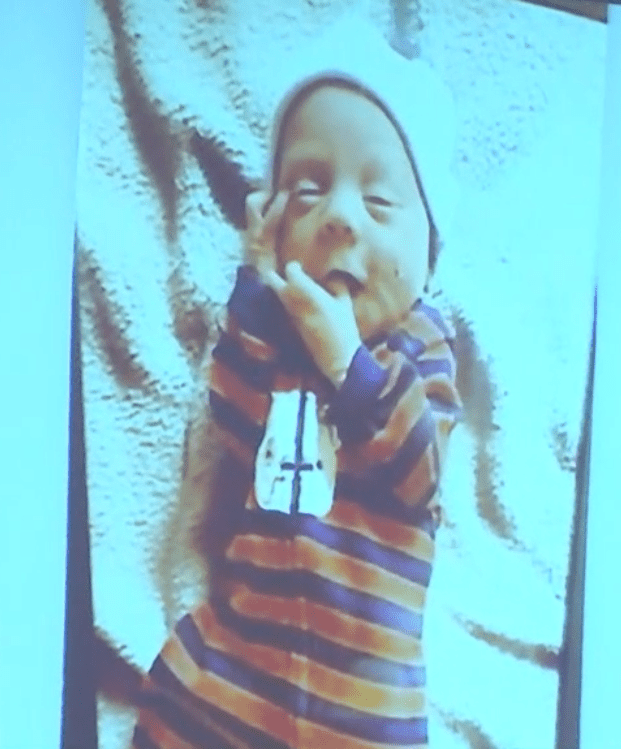 Groves trial: Evidence photo depicting a photograph of Dylan Groves found in the family's home.