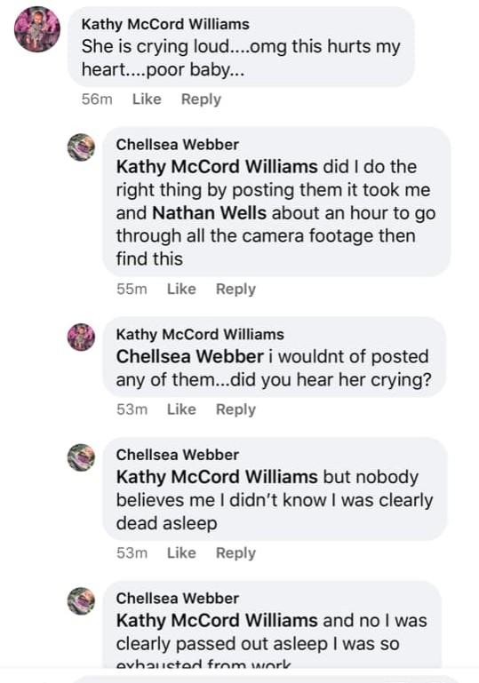 Chellsea Webber FB post