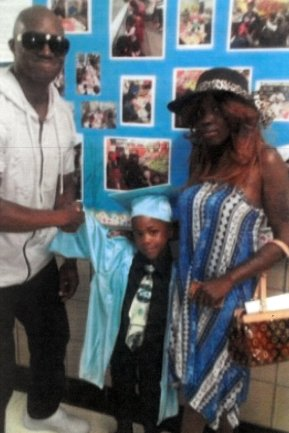 Rysheim Smith with Zymere Perkins and his mother, Geraldine