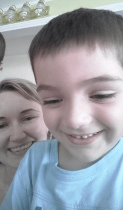 Justyna Zubko-Valva with son Thomas