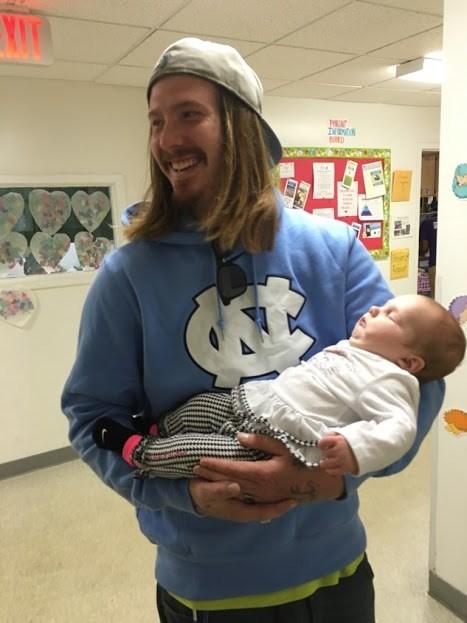 Zachary Littell and daughter Ava