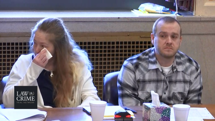 Jessica and Daniel Groves during day 2 of their murder trial