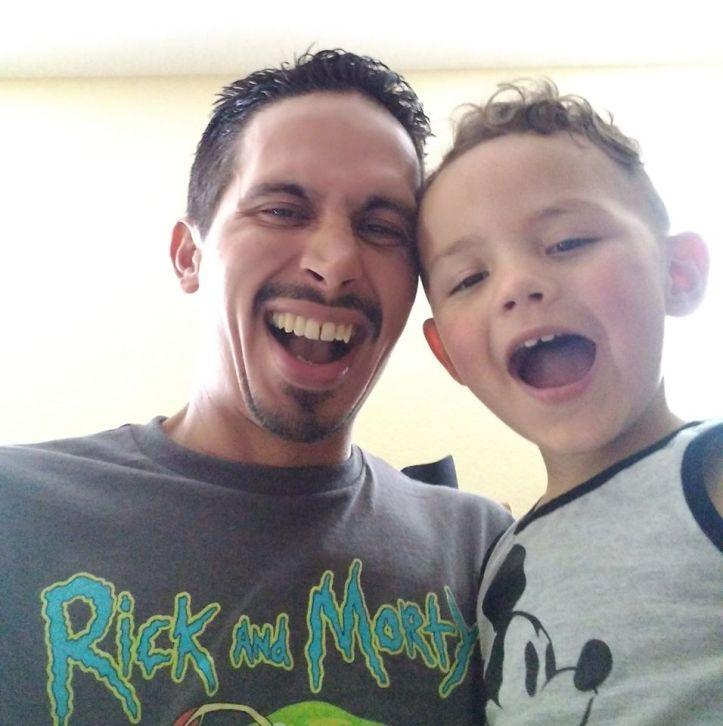 Brian Lockhart and son Christian Paz