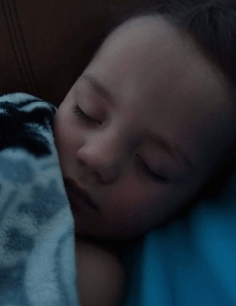 Christian Paz sleeping