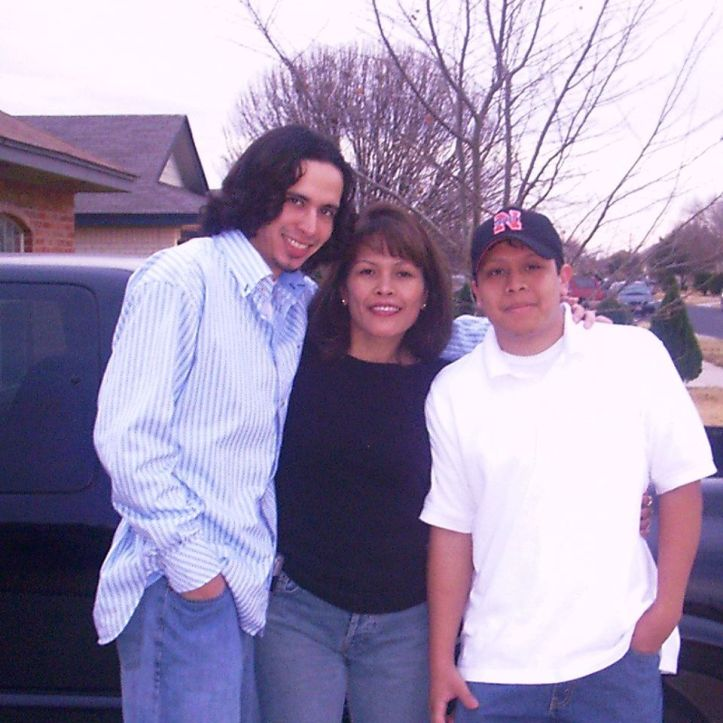 Connie Paz (center) with sons Brian Lockhart (left) and Travis Phipps (right) in their younger days. (Facebook)
