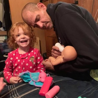 Autumn Horak and her Papa Jason Collado