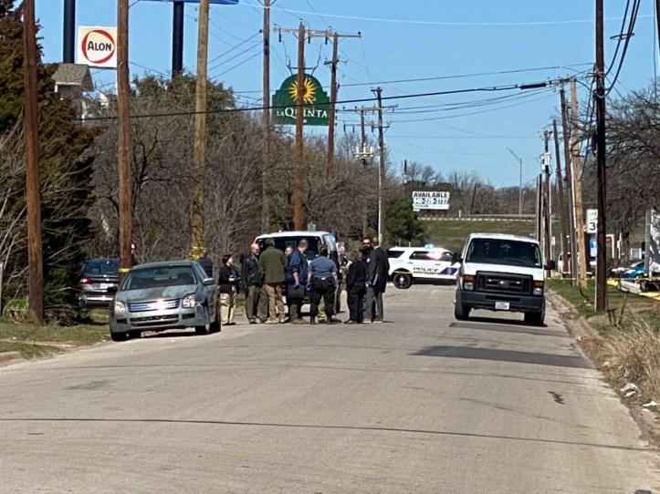 Logan Cline car crime scene in Wichita Falls TX