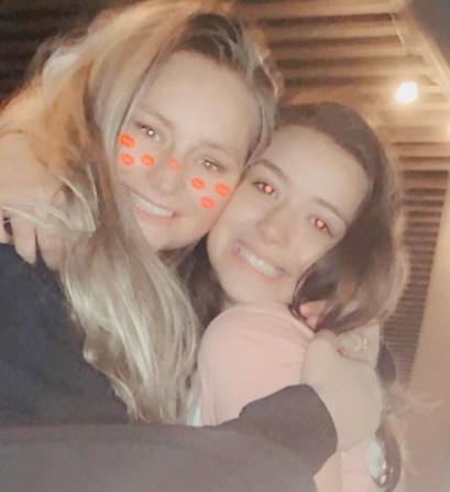 Madison Sasser with older sister Janette