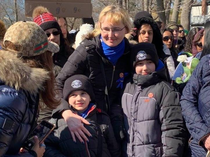 Justyna Zubko-Valva with sons Andrew and Anthony Valva.