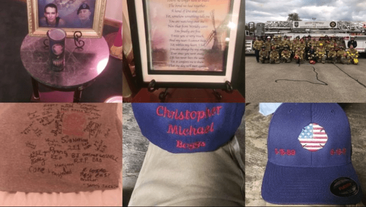Christopher Boggs memorial post