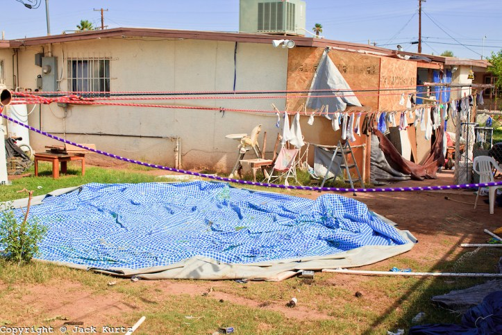 The backyard of the Phoenix house. (AZ Central)