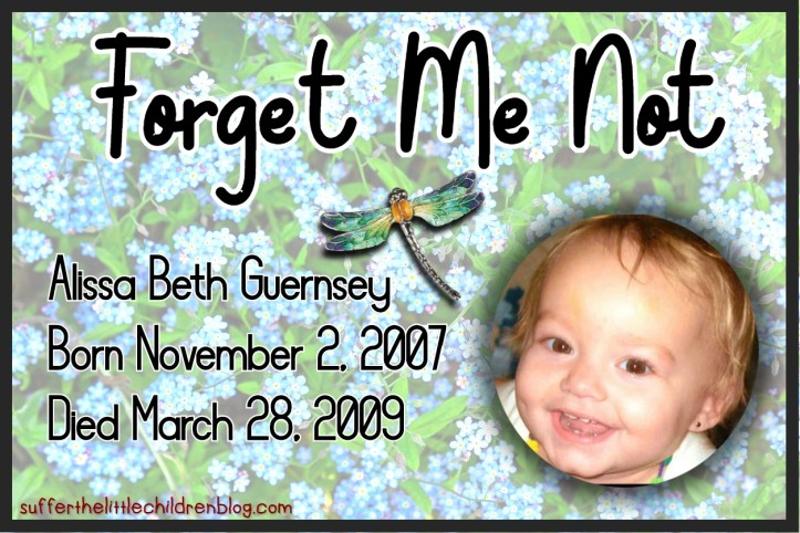 Suffer the Little Children Blog - sufferthelittlechildrenblog.com - Forget Me Not - Alissa Guernsey