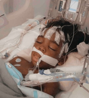 Amari Demontre Boone in the hospital