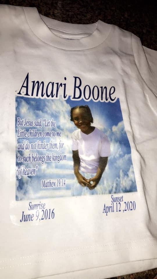 Amari Boone memorial t-shirt