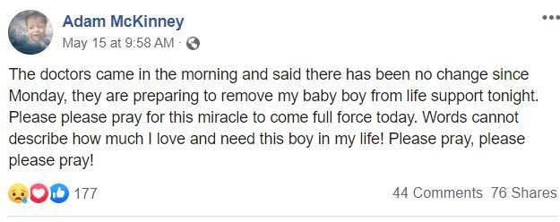 Adam McKinney post about Dawson