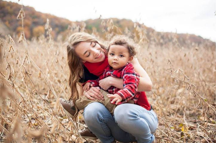 Alyssa Carpenter and son Ky'mani Moore