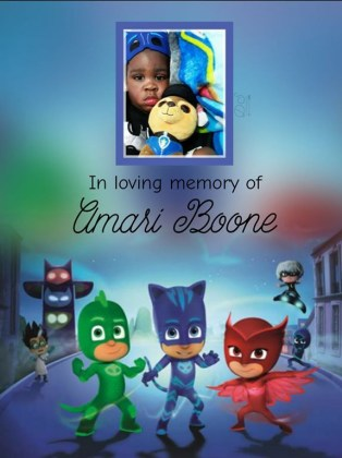In loving memory of Amari Boone by Donna Johnson Shadoan