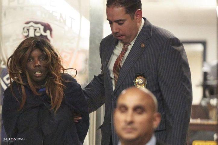 Geraldine Perkins after her arrest.