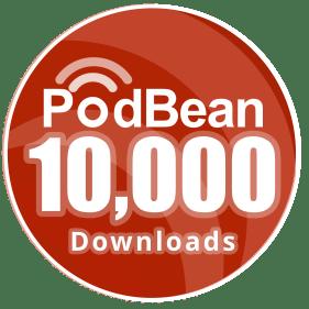 Suffer the Little Children Podcast 10,000 Downloads Badge