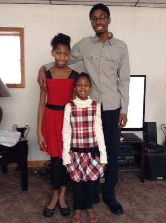 Isiah Samuels, Treyanna Summerville, and Rhianna Charlton