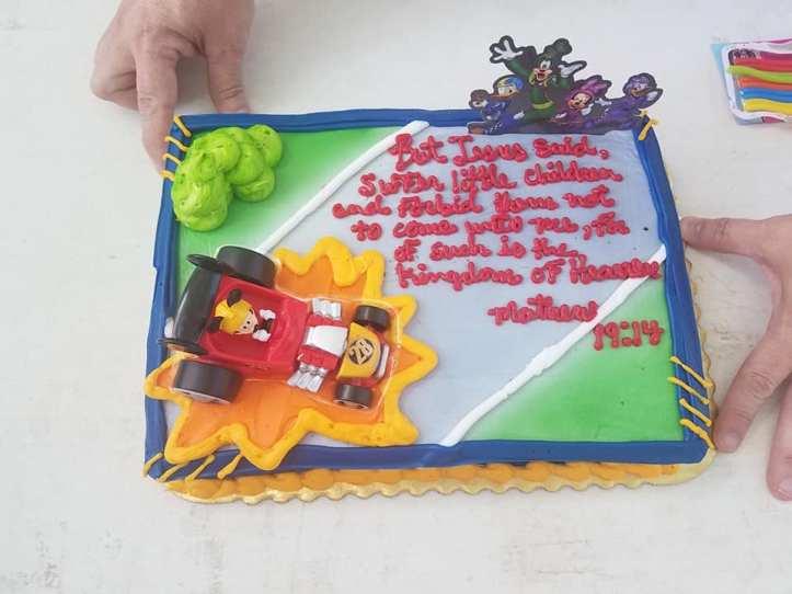 Steven Dale Meek II 2nd birthday cake