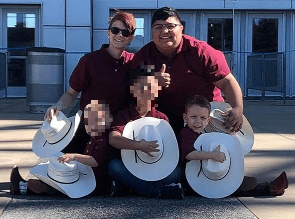Shannon Gray, Reyna Sanchez, Stetson Blackburn family photo