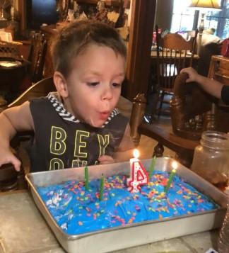 Stetson Blackburn birthday cake