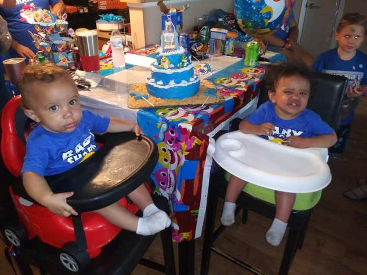 Zyaire and Zion Reed birthday