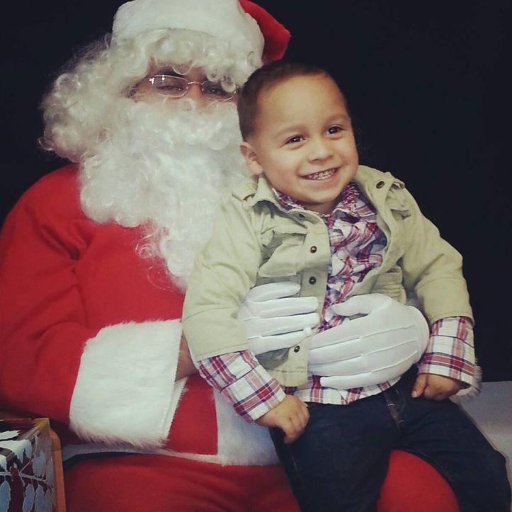 Emrik Osuna with Santa