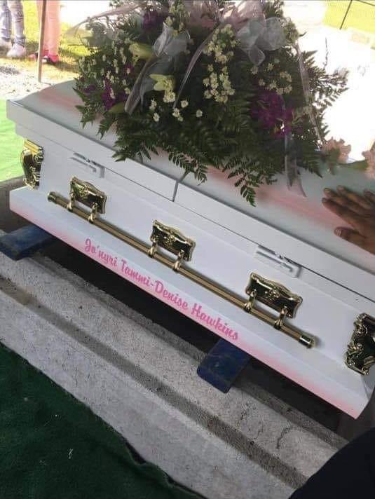 Jo'nyri Hawkins' casket