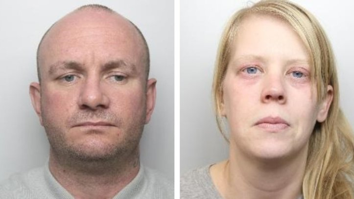 Martin Currie and Sarah O'Brien mugshots
