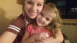 Kelsey Kruse and daughter Autumn Hallow