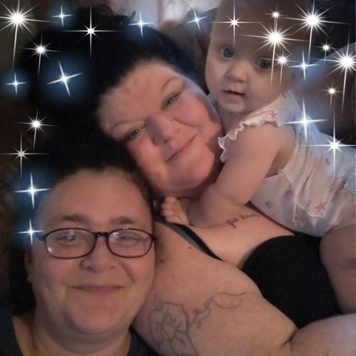 Arianna Starkey with grandma and great aunt