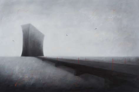 Invisible Bridges 3 (2014), 80cm X 120cm, Oil on canvas Sabiana Paoli Art Gallery