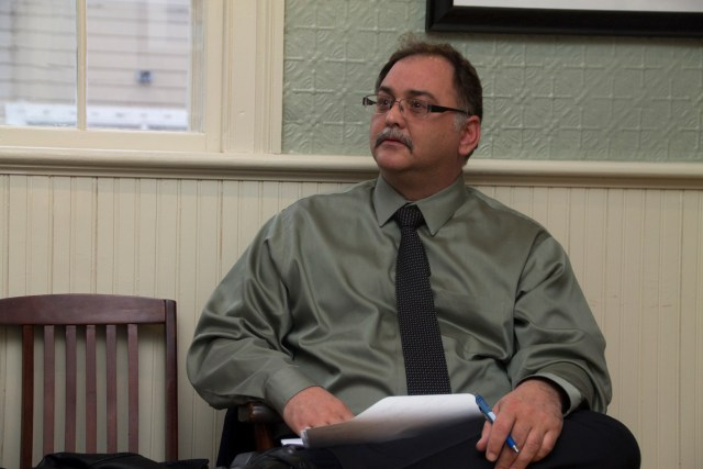 Greenport Village treasurer Robert Brandt says residents will see a tax increase this year, despite the Village cutting back. (Credit: Paul Squire)