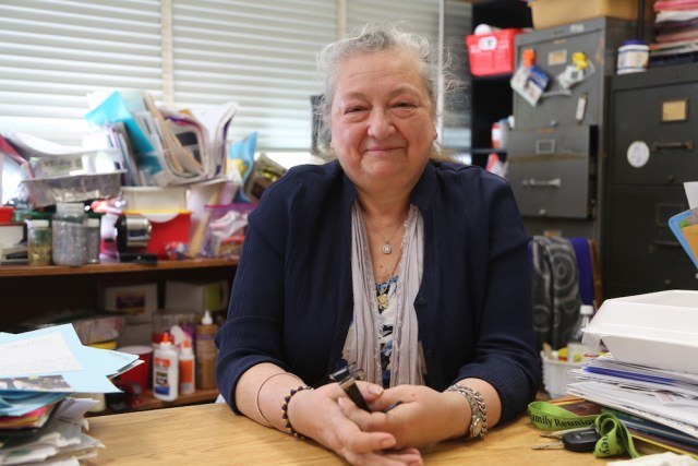 Greenport teacher, Kathy Wallace, retires after 32 years in June 2018. Nicole Smith photo