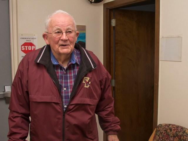 "Thomas Reilly of Mattituck, 96, has been awarded Suffolk County's ""Senior of the Year"" award."
