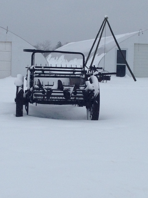 Farm equipment along the Main Road in Southold. Cyndi Murray photo.