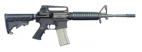 A Bushmaster M-4 semi-automatic, similar to the one allegedly used in the Newtown school shootings last week.