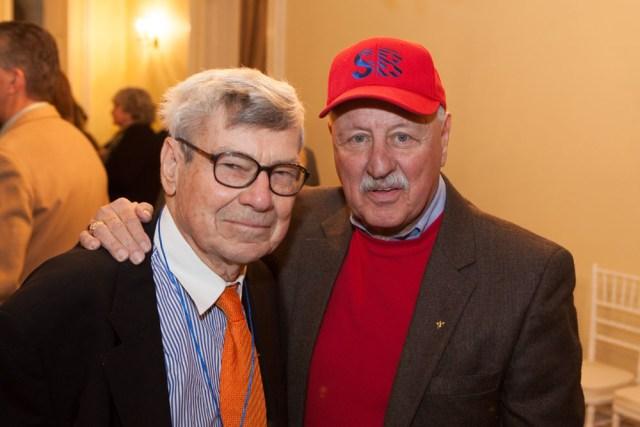 Committee chairman Herb Adler with Senator Ken LaValle. (Credit: Katharine Schroeder)