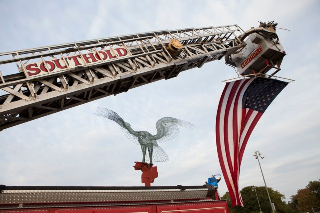 A Sept. 11 memorial service was held in Peconic Thursday night. (Credit: Katharine Schroeder)