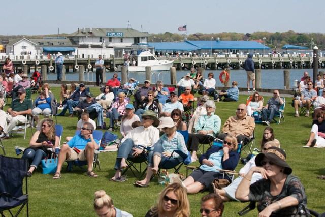 The crowd in Mitchell Park. (Credit: Katharine Schroeder)