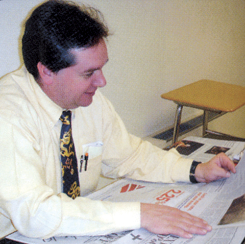 Former special education teacher Anthony Claudio in the 2009 Mattituck High School yearbook, his final school year with the district.