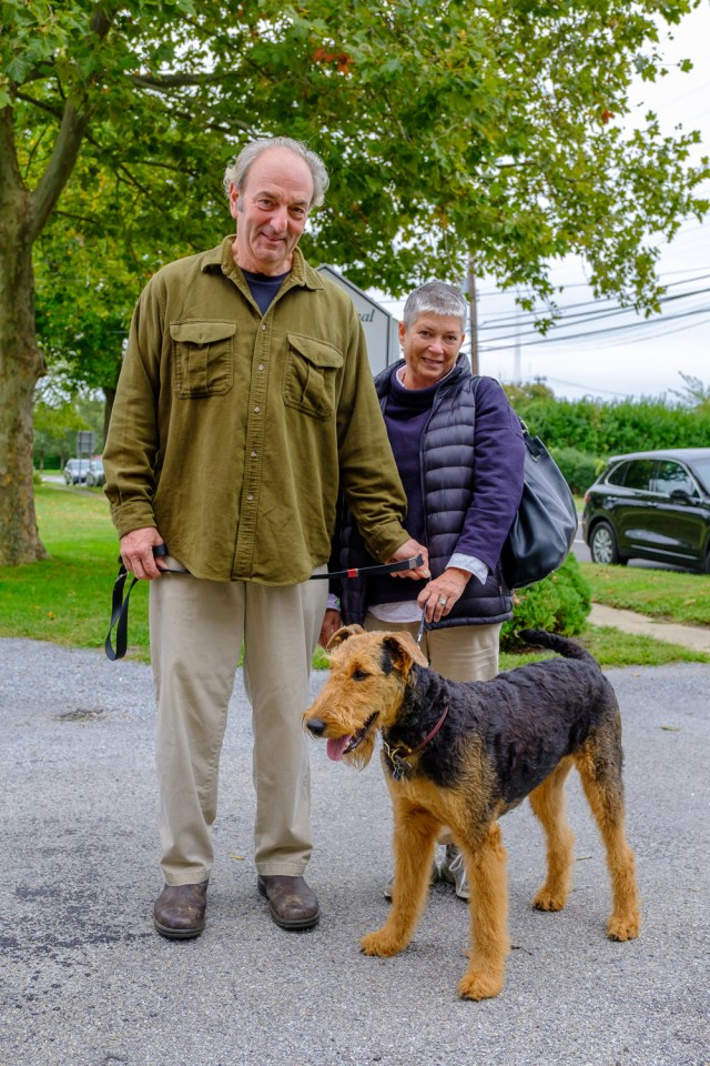 Sam Leare and his dog Scout, an airedale terrier. (Credit: Jeremy Garretson)