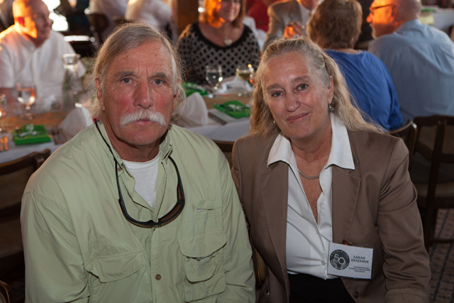 Sarah Benjamin, coordinator of the North Fork Parent-Child Home Program, with husband Charlie.