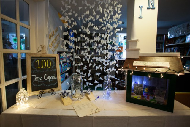 The centennial celebration time capsule display. (Credit: Katharine Schroeder)
