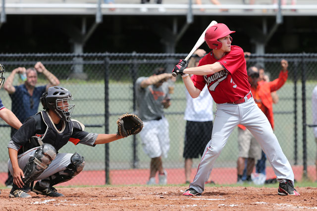 Liam Walker hit a double in the first inning. (Credit: Daniel De Mato)