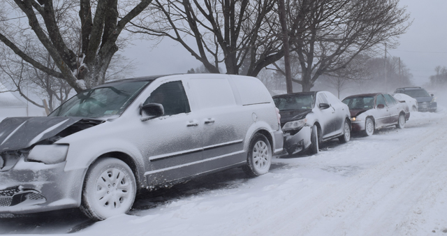 The scene of a seven-car pileup in Jamesport early last month. (Credit: Grant Parpan, file)
